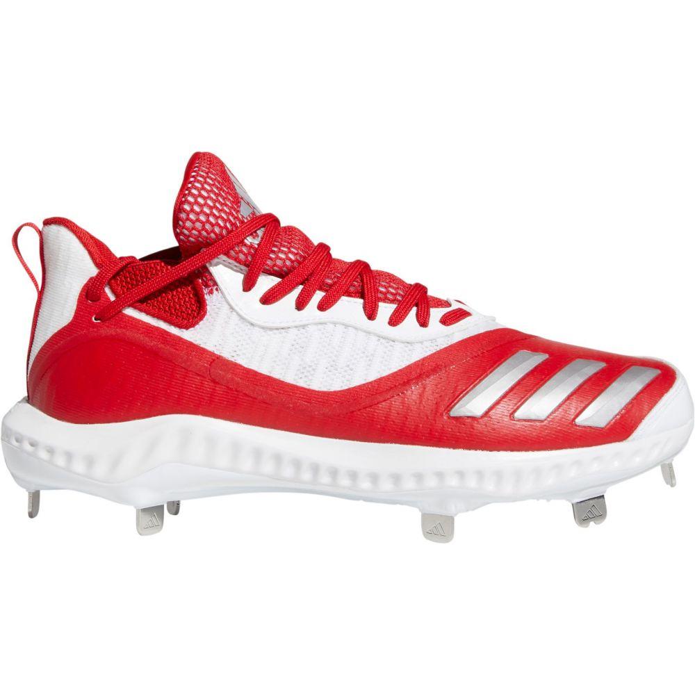 アディダス adidas メンズ 野球 スパイク シューズ・靴【Icon V Bounce Iced Out Metal Baseball Cleats】Red/White