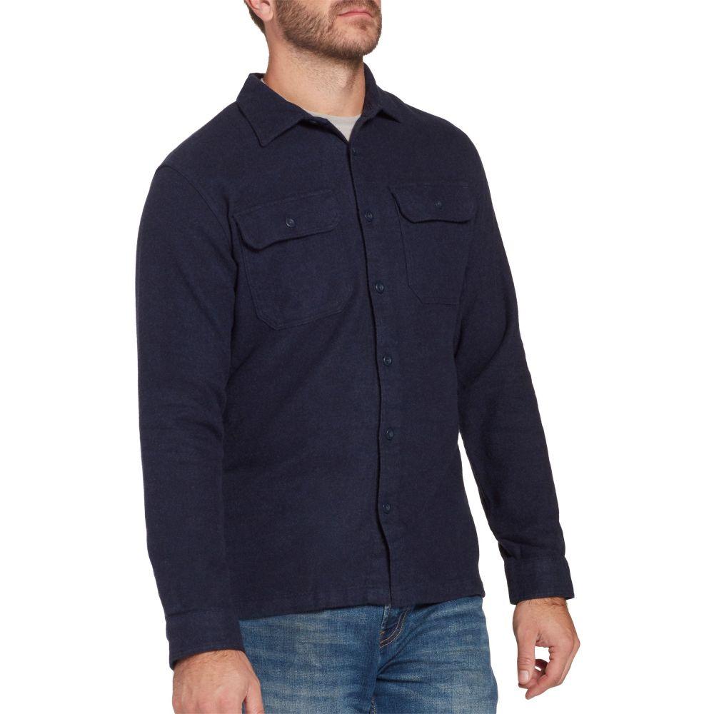 パタゴニア Patagonia メンズ シャツ フランネルシャツ トップス【Fjord Flannel Button Up Long Sleeve Shirt】Navy Blue