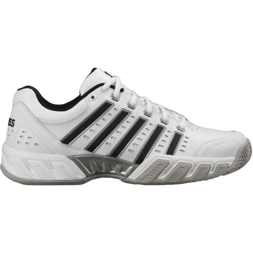 ケースイス メンズ テニス シューズ・靴 【サイズ交換無料】 ケースイス K-Swiss メンズ テニス シューズ・靴【Bigshot Light Leather Tennis Shoes】White/Black