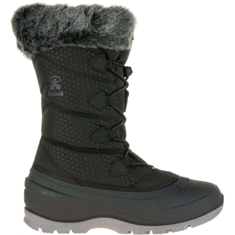 カミック Kamik レディース ブーツ ウインターブーツ シューズ・靴【Momentum2 200g Waterproof Winter Boots】Black