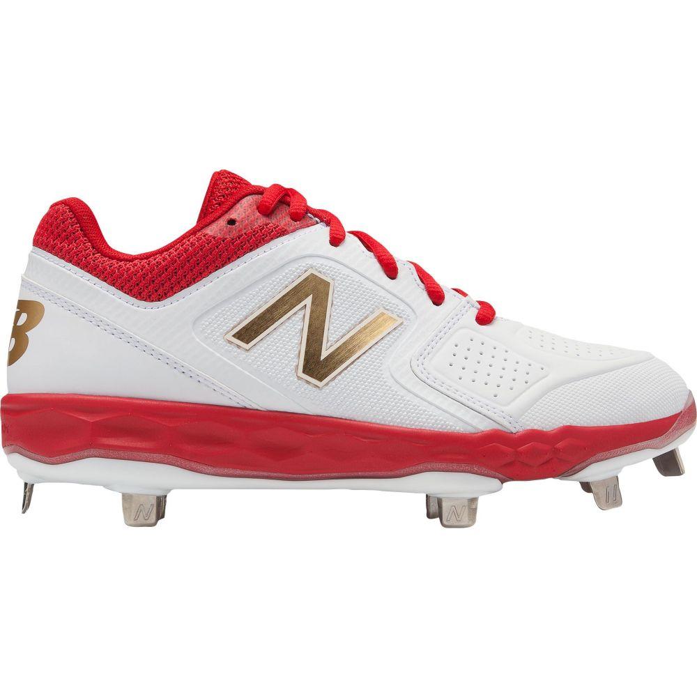 ニューバランス New Balance レディース 野球 スパイク シューズ・靴【Fresh Foam Velo 1 Metal Fastpitch Softball Cleats】White/Red