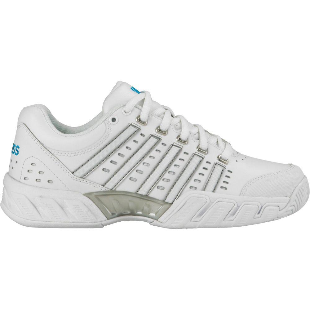 ケースイス レディース テニス シューズ・靴 【サイズ交換無料】 ケースイス K-Swiss レディース テニス シューズ・靴【Bigshot Leather Tennis Shoes】White/Blue