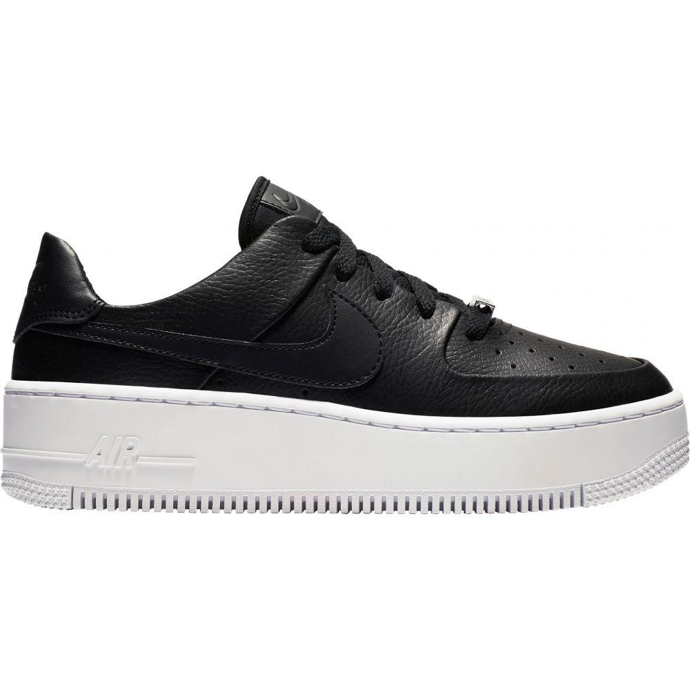 ナイキ Nike レディース スニーカー エアフォースワン シューズ・靴【Air Force 1 Sage Shoes】Black/White