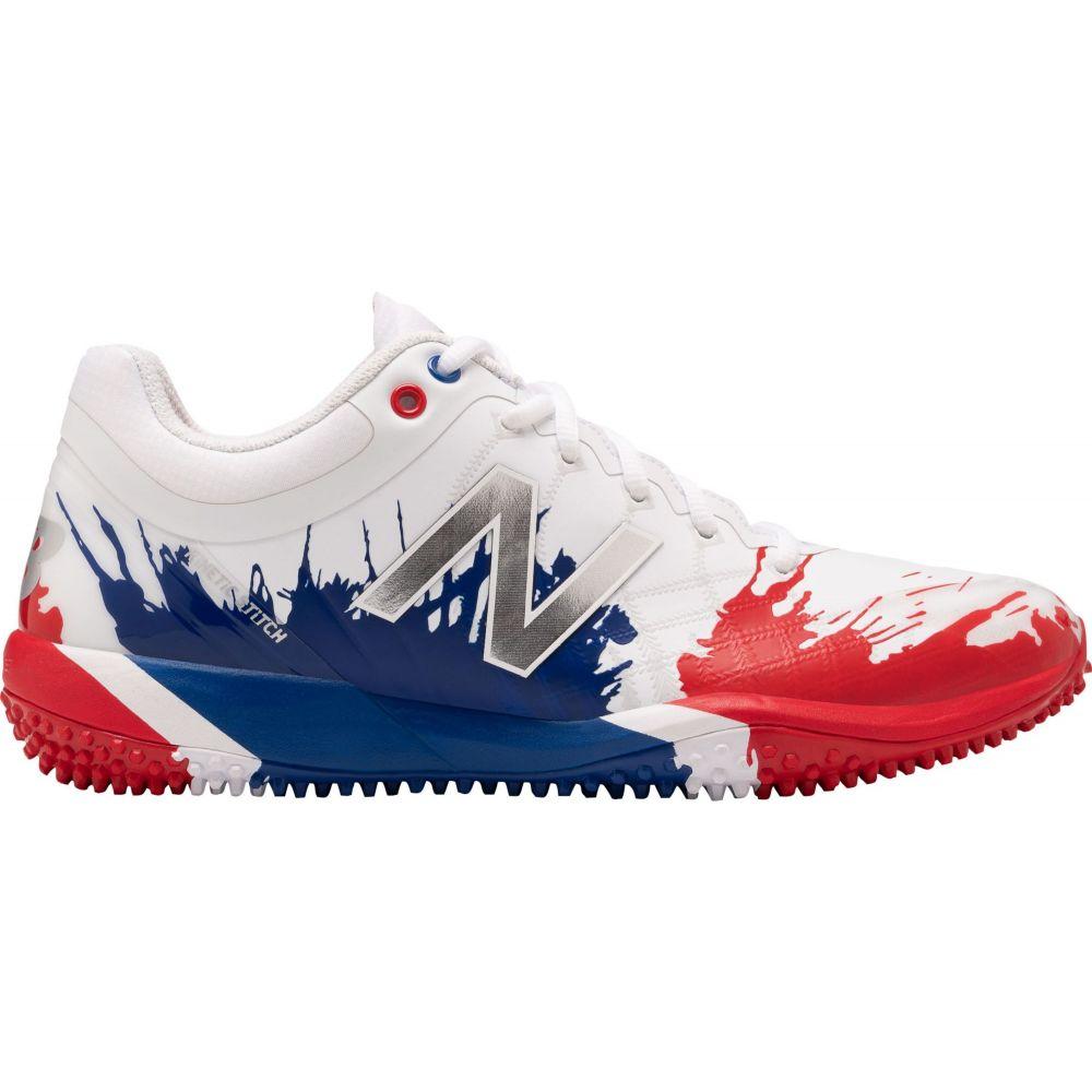 ニューバランス New Balance メンズ 野球 スパイク シューズ・靴【4040 v5 Playoff Pack Turf Baseball Cleats】White/Red