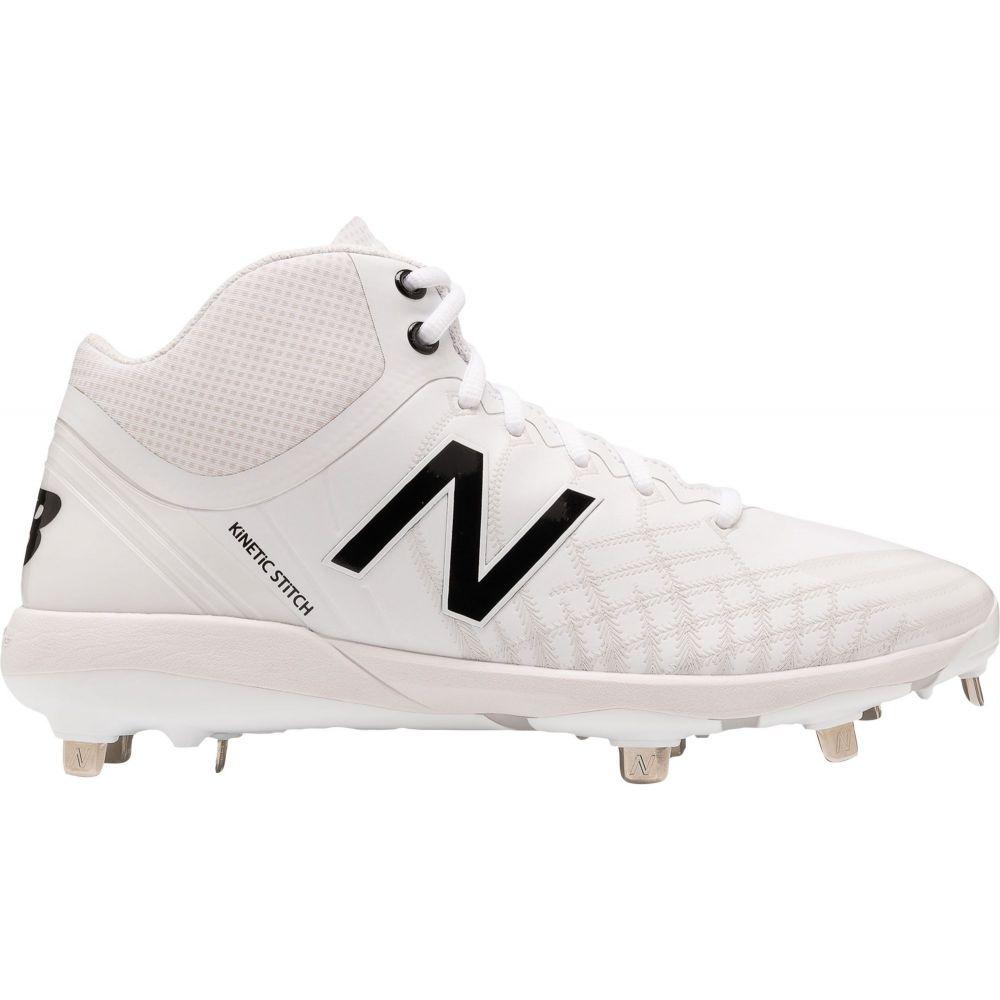 ニューバランス New Balance メンズ 野球 スパイク シューズ・靴【4040 v5 Mid Metal Baseball Cleats】White/Black