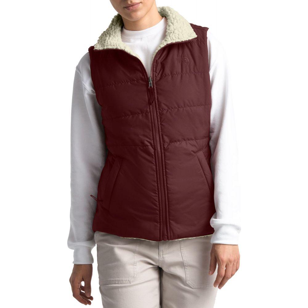 ザ ノースフェイス The North Face レディース ベスト・ジレ トップス【Reversible Merriewood Vest】Dp Garnet Rd/Vintage Wht