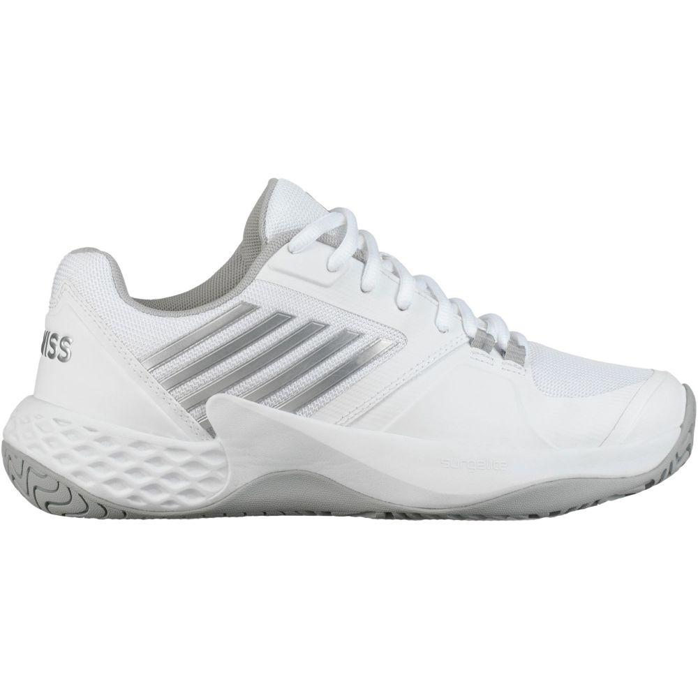 ケースイス レディース テニス シューズ・靴 【サイズ交換無料】 ケースイス K-Swiss レディース テニス シューズ・靴【Aero Court Tennis Shoes】White/Silver