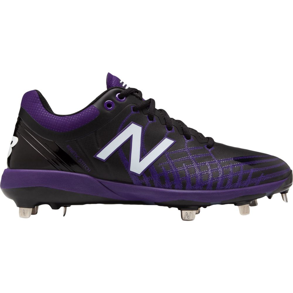 ニューバランス New Balance メンズ 野球 スパイク シューズ・靴【4040 v5 Metal Baseball Cleats】Black/Purple