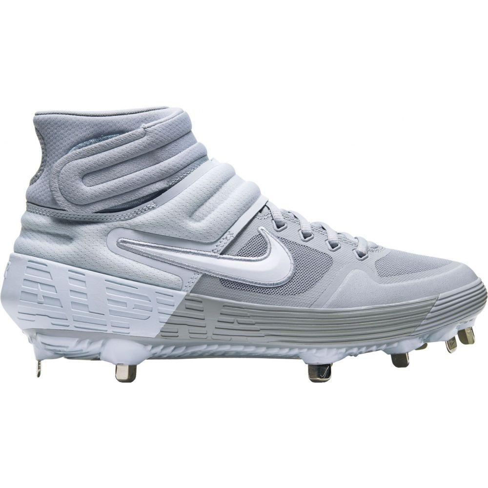 ナイキ Nike メンズ 野球 スパイク シューズ・靴【Alpha Huarache Elite 2 Mid Metal Baseball Cleats】Grey/White