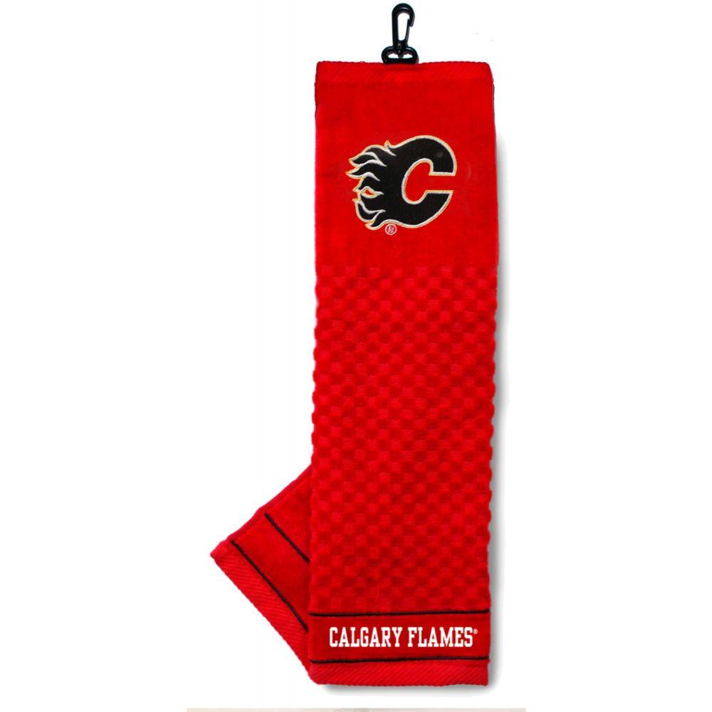 チームゴルフ Team Golf ユニセックス ゴルフ タオル【Calgary Flames Embroide赤 Towel】