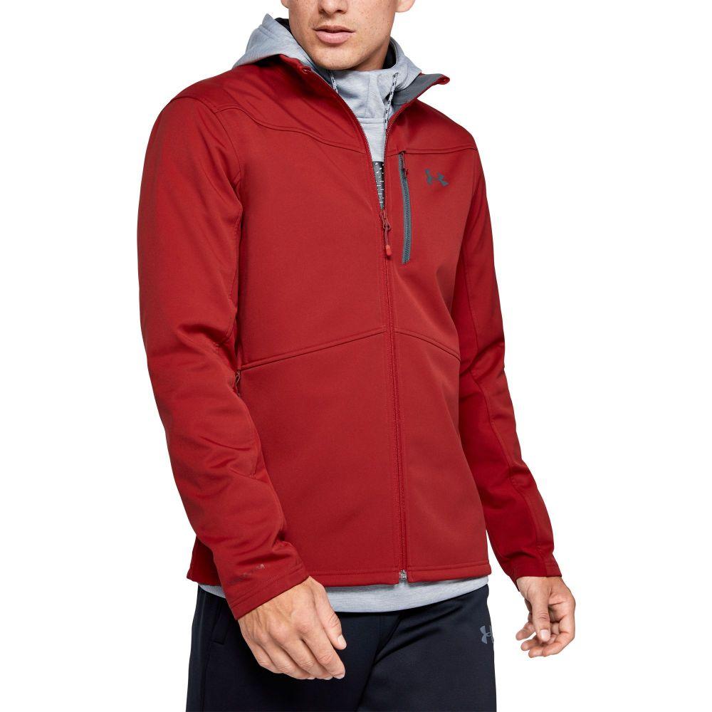 アンダーアーマー Under Armour メンズ ジャケット ソフトシェルジャケット アウター【Softshell Jacket (Regular and Big & Tall)】Stadium Red
