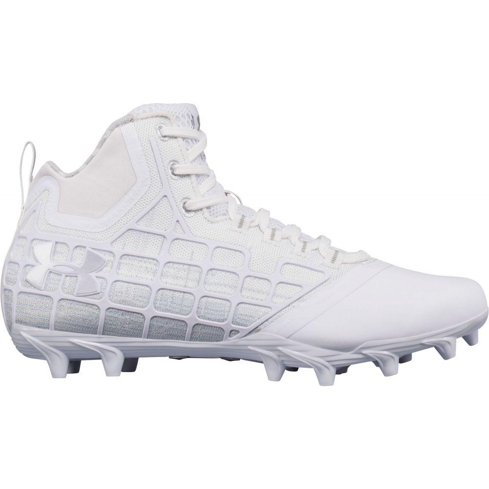 アンダーアーマー Under Armour メンズ ラクロス スパイク シューズ・靴【Banshee Mid MC Lacrosse Cleats】White/Silver