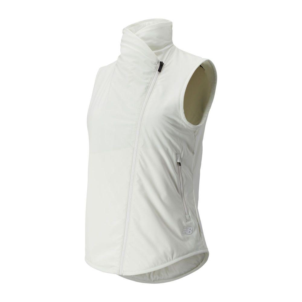 ニューバランス New Balance レディース ベスト・ジレ トップス【Heat Flex Asymmetrical Vest】Sea Salt