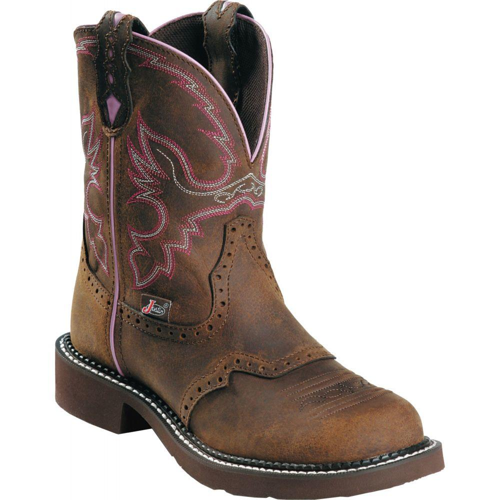 ジャスティンブーツ Justin Boots レディース ブーツ ワークブーツ シューズ・靴【Justin Gypsy Wanette Steel Toe Work Boots】Bark