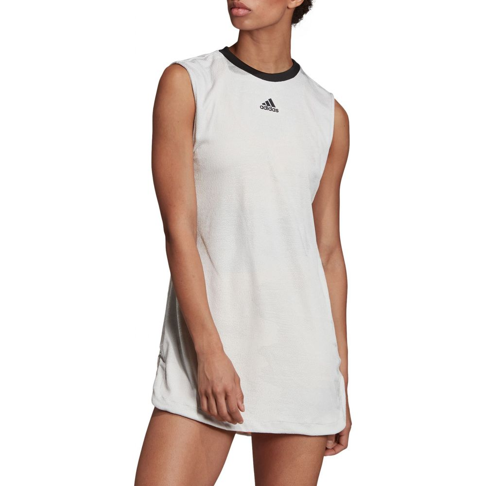 アディダス レディース テニス トップス 【サイズ交換無料】 アディダス adidas レディース テニス ワンピース トップス【New York Tennis Dress】Grey/Flash Orange