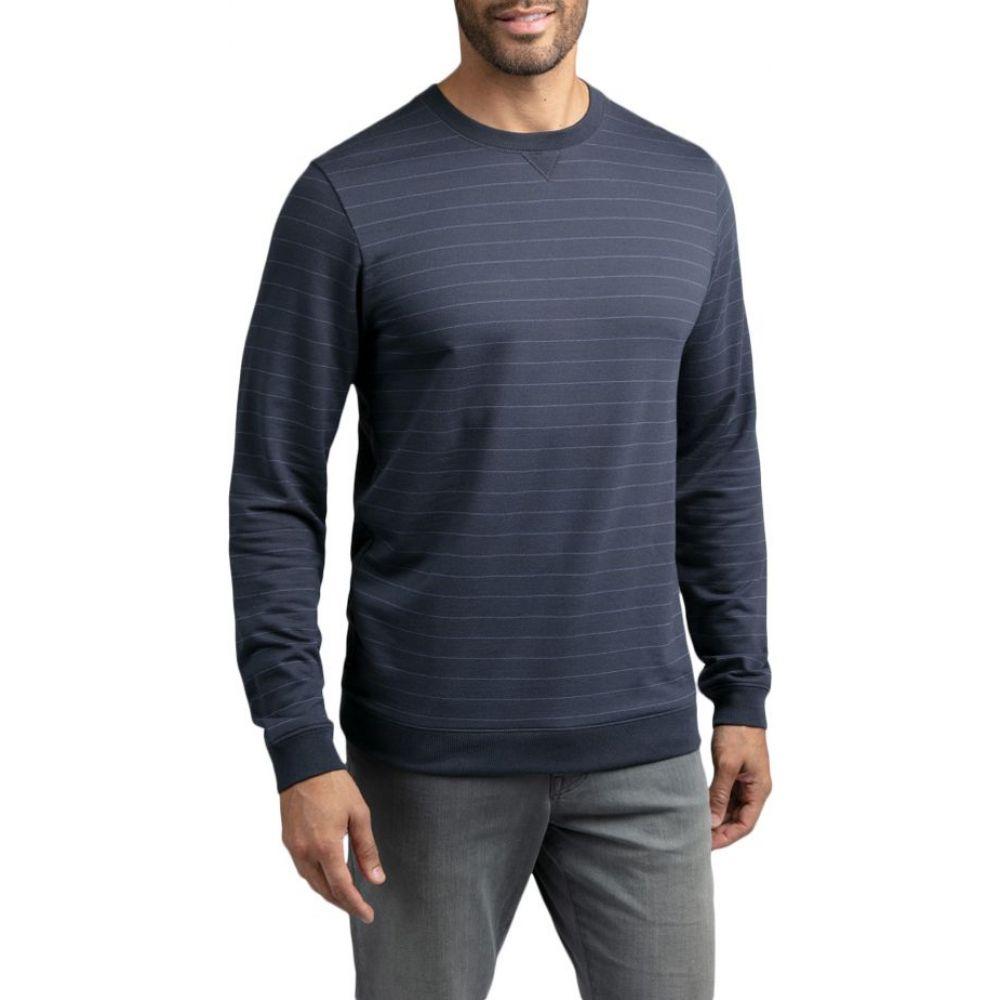 トラビスマシュー TravisMathew メンズ ゴルフ トップス【Carlin Long Sleeve Golf Shirt】Blue Nights/Vintage Indgo
