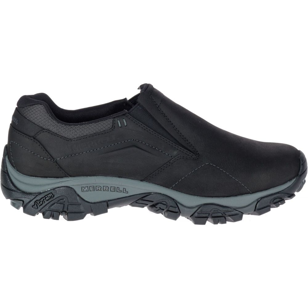 メレル Merrell メンズ スリッポン・フラット シューズ・靴【Moab Adventure Moc Casual Shoes】Black