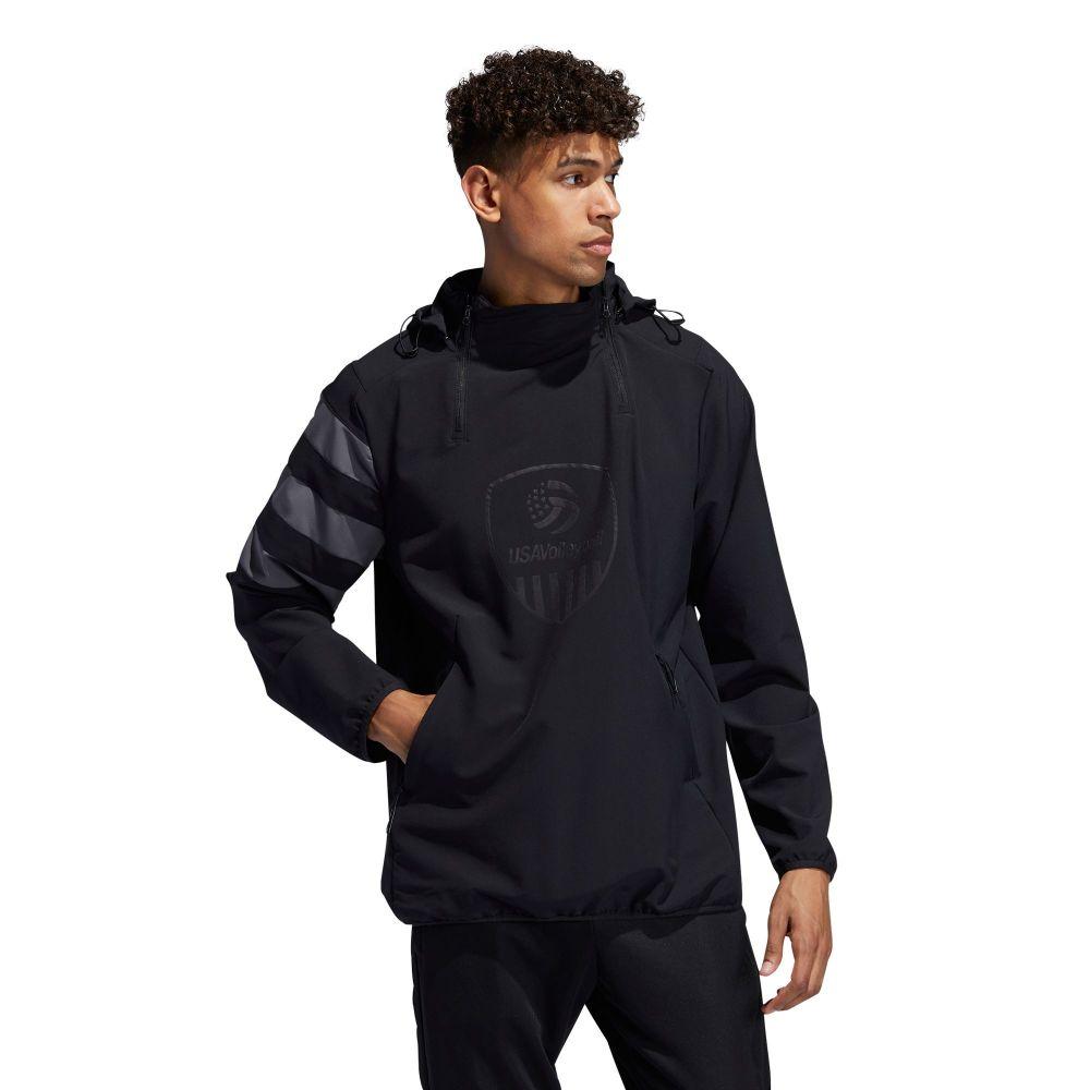 アディダス adidas メンズ ジャケット アウター【USA Volleyball All-Weather Jacket】Black/Grey