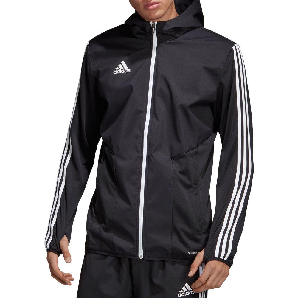 アディダス adidas メンズ サッカー ジャケット アウター【Tiro 19 Warm Soccer Jacket】Black/White