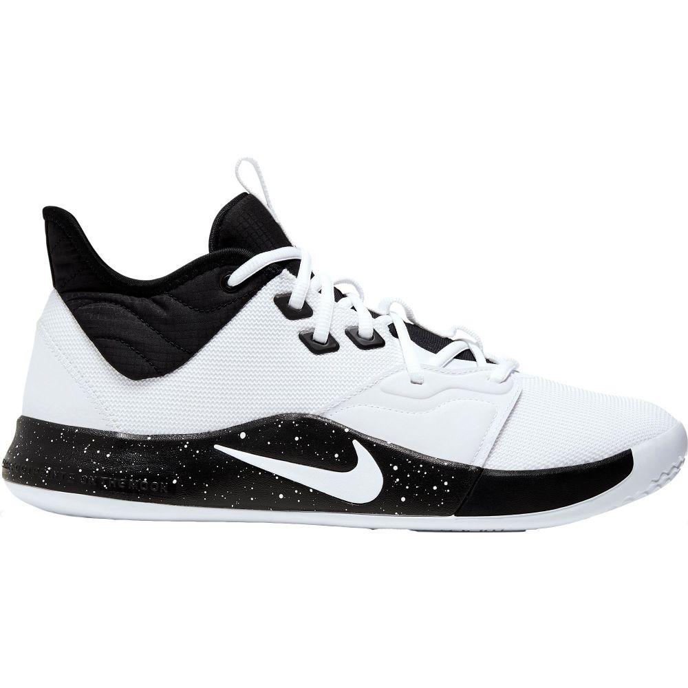 ナイキ Nike メンズ バスケットボール シューズ・靴【PG3 Basketball Shoes】White/Black