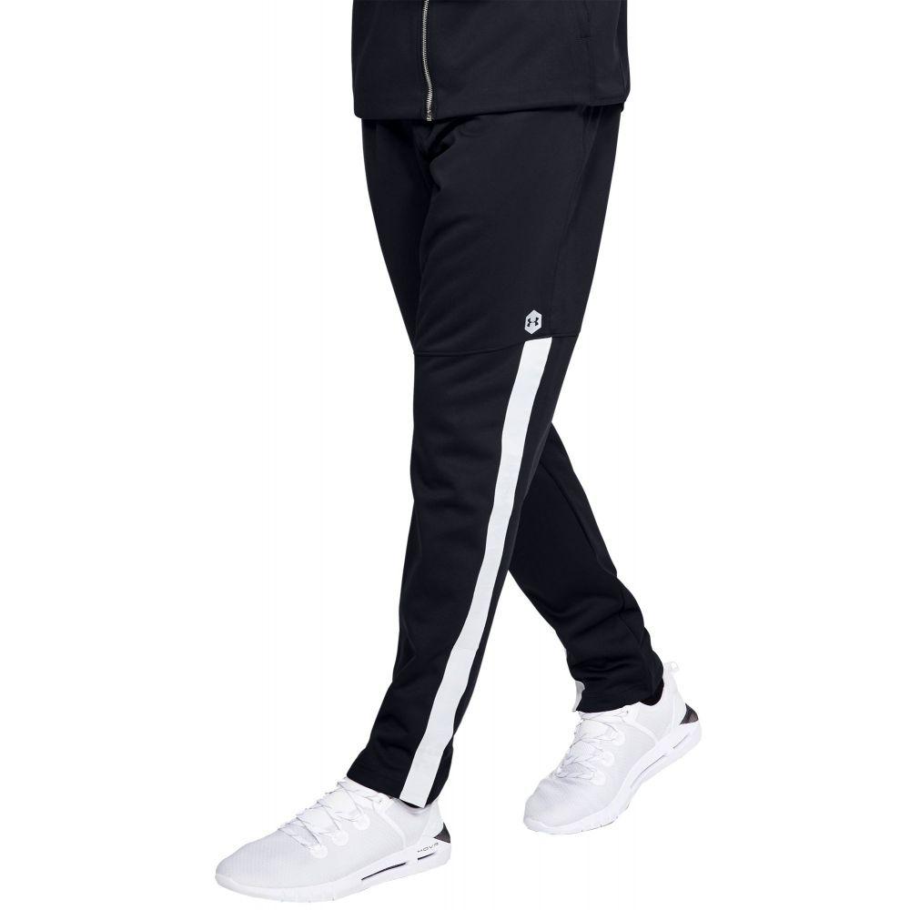 アンダーアーマー Under Armour メンズ ボトムス・パンツ 【Athlete Recovery Knit Warm-Up Pants】Black/Black/Metallic Silv