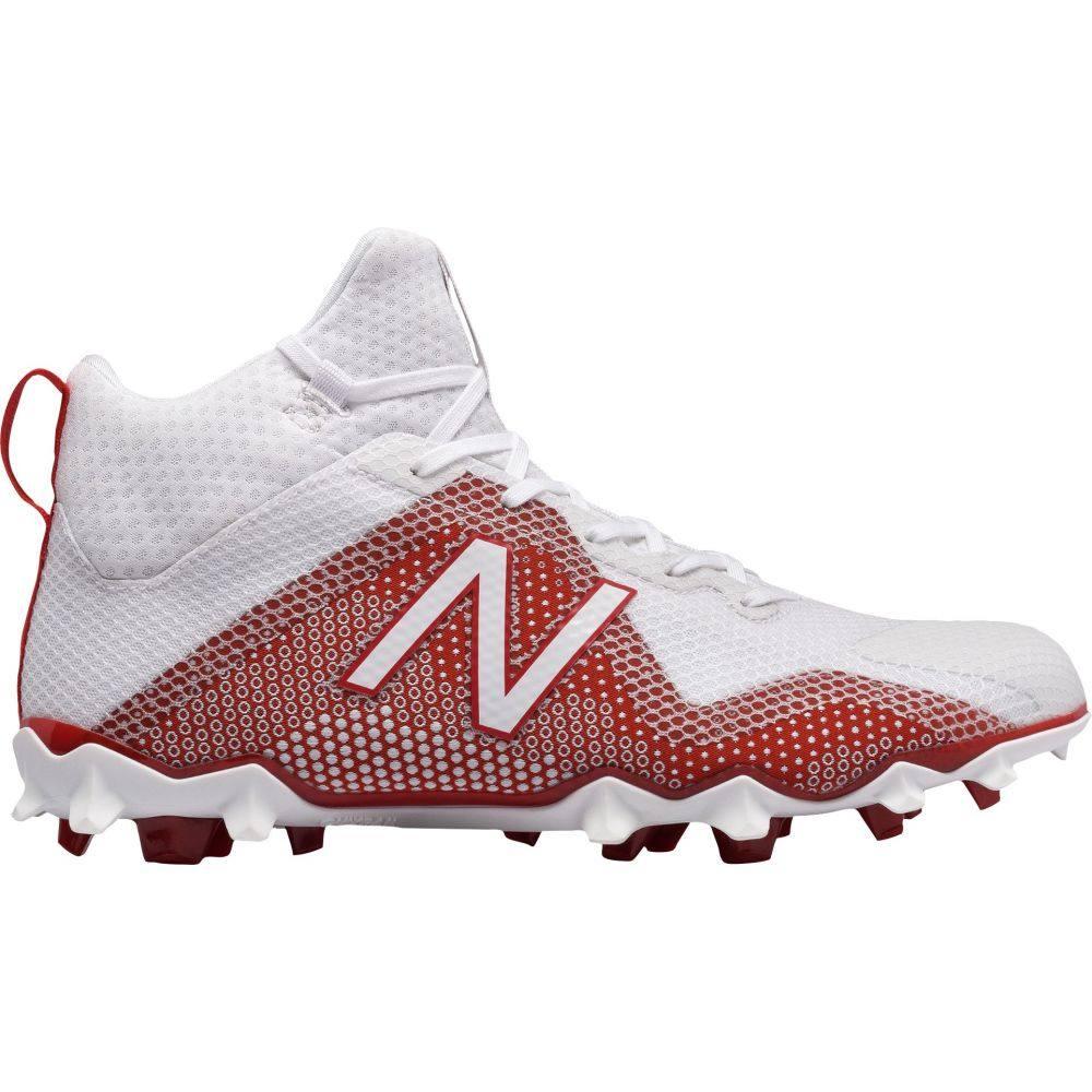 ニューバランス New Balance メンズ ラクロス スパイク シューズ・靴【FREEZE LX Lacrosse Cleats】White/Red