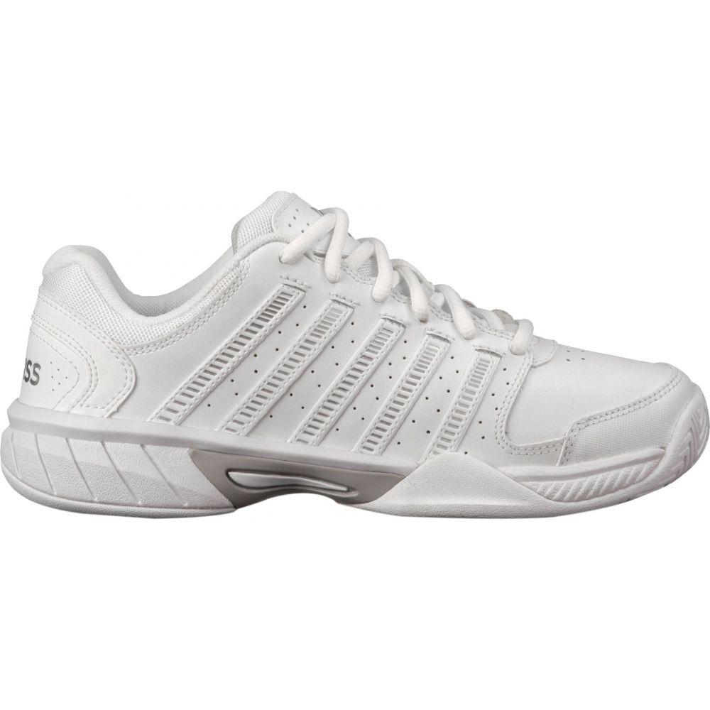ケースイス K-Swiss レディース テニス シューズ・靴【Hypercourt Exp LTR Tennis Shoes】White/Silver/Grey