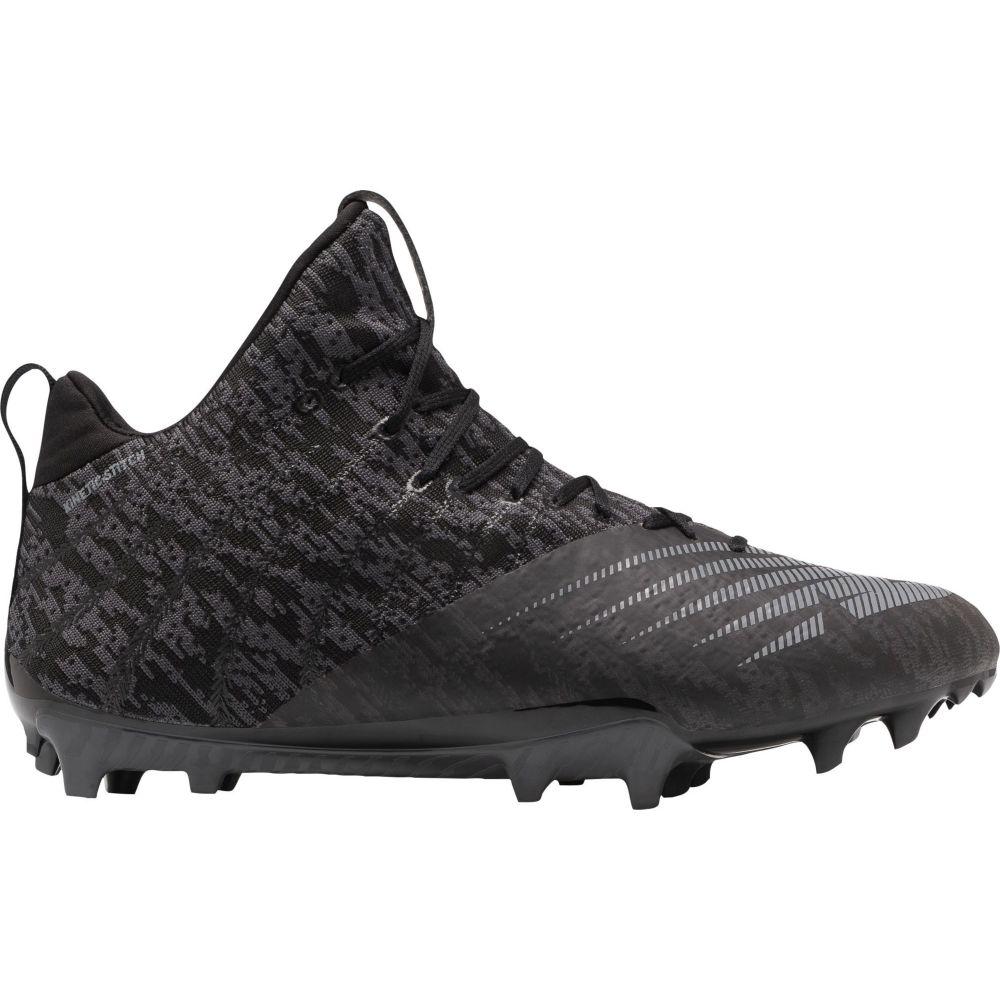 ニューバランス New Balance メンズ ラクロス スパイク シューズ・靴【BurnX 2 Mid Lacrosse Cleats】Black/Silver