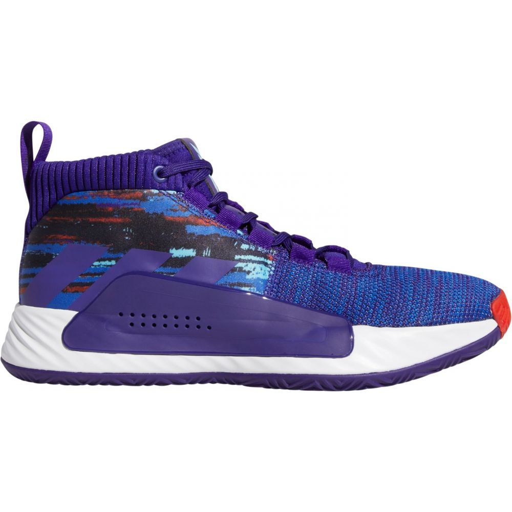 アディダス adidas メンズ バスケットボール シューズ・靴【Dame 5 Basketball Shoes】Purple/Blue