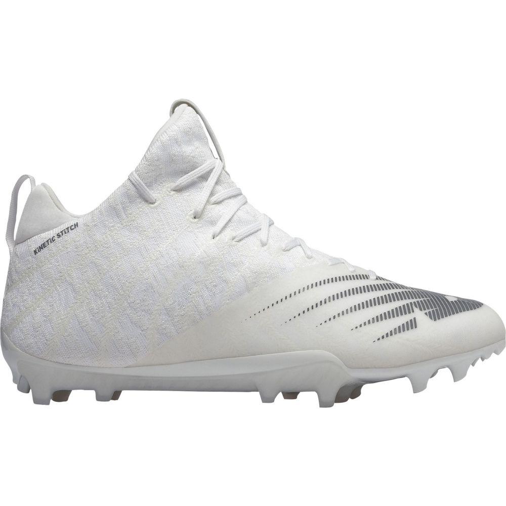 ニューバランス New Balance メンズ ラクロス スパイク シューズ・靴【BurnX 2 Mid Lacrosse Cleats】White/Silver