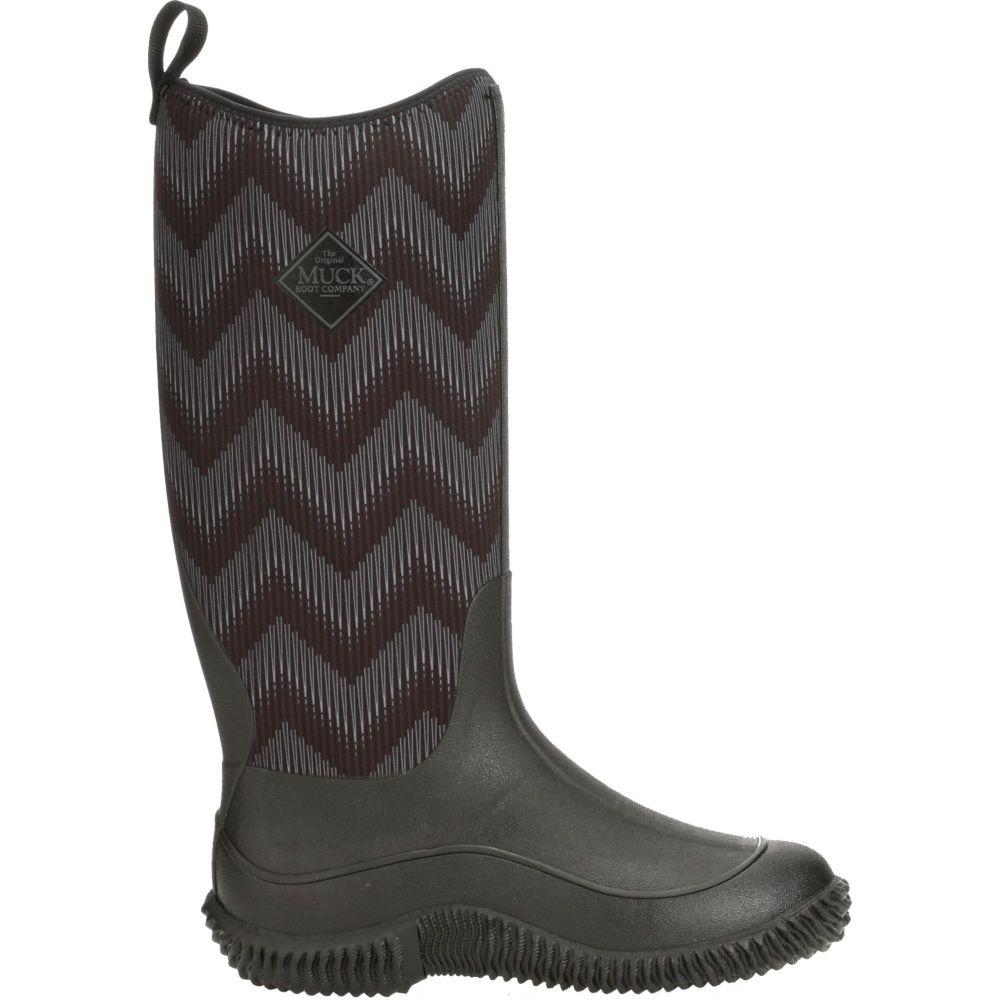 マックブーツ Muck Boots レディース ブーツ シューズ・靴【Hale Chevron Waterproof Boots】Black Chevron