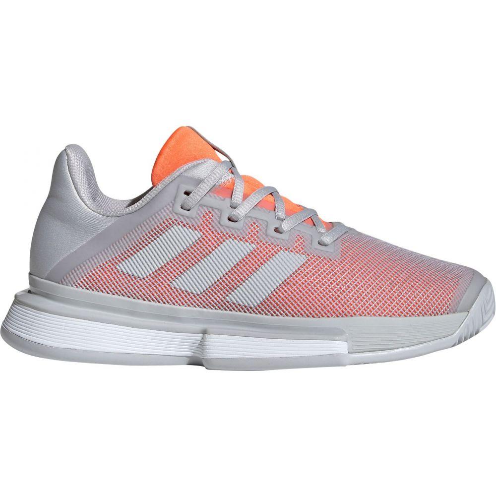 アディダス adidas レディース テニス シューズ・靴【SoleMatch Bounce Tennis Shoes】Grey/Coral
