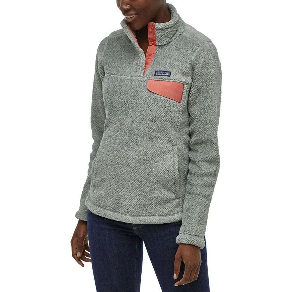 パタゴニア Patagonia レディース フリース トップス【Re-Tool Snap-T Fleece Pullover】Tailored Grey/Nickel/Aurea Pink