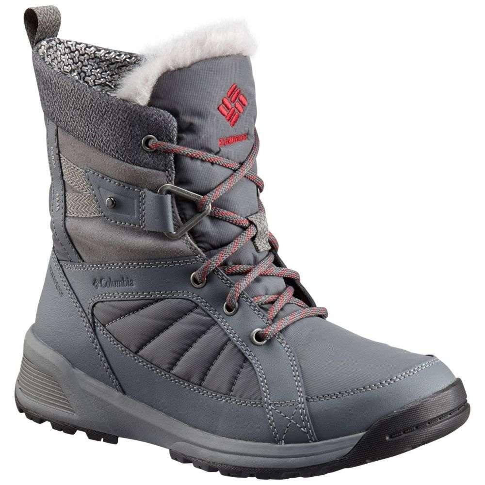 コロンビア Columbia レディース ブーツ ウインターブーツ シューズ・靴【Meadows Shorty Omni-Heat 3D 200g Winter Boots】Ti Grey Steel/Marsala Red