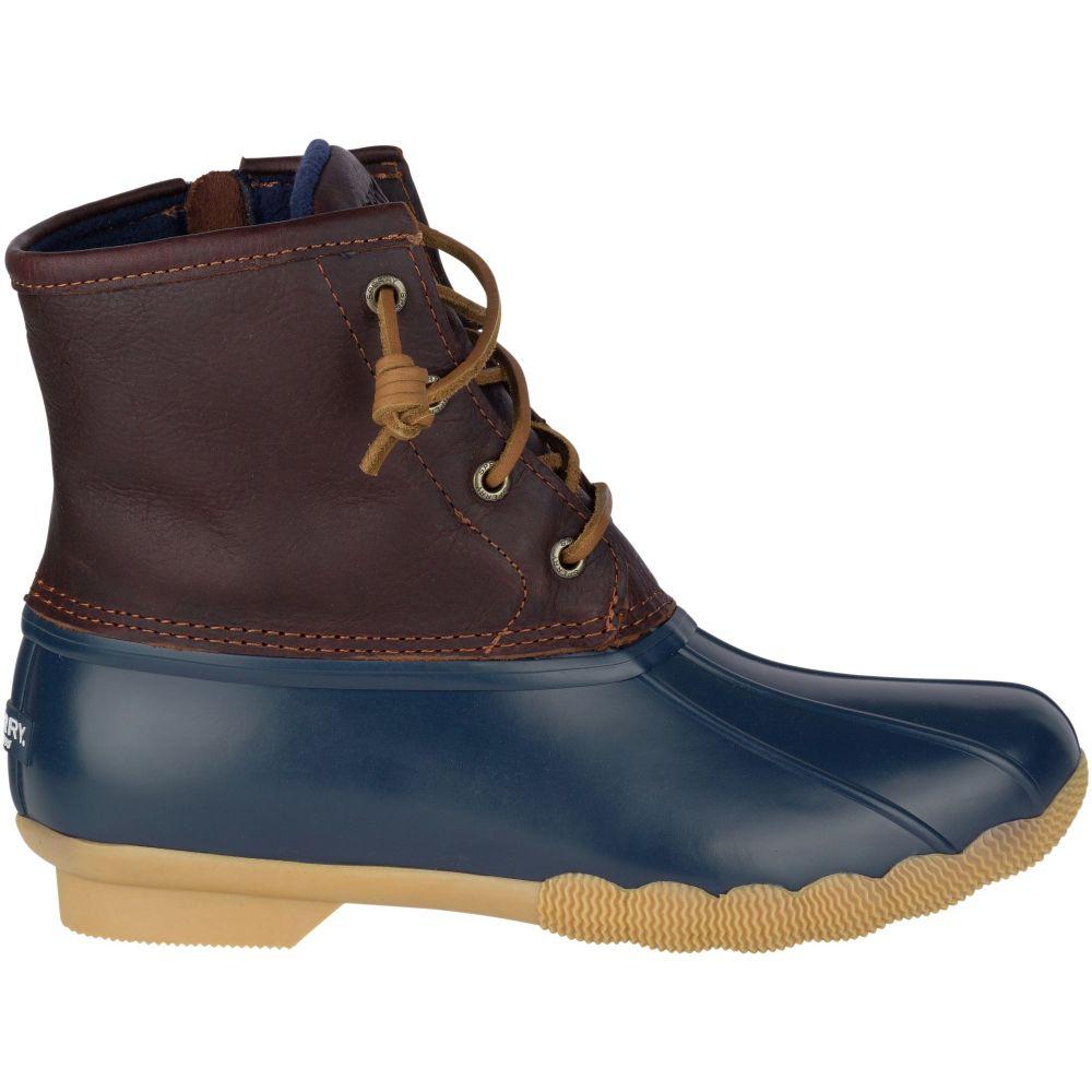 スペリー Sperry Top-Sider レディース ブーツ シューズ・靴【Saltwater Waterproof Duck Boots】Tan/Navy