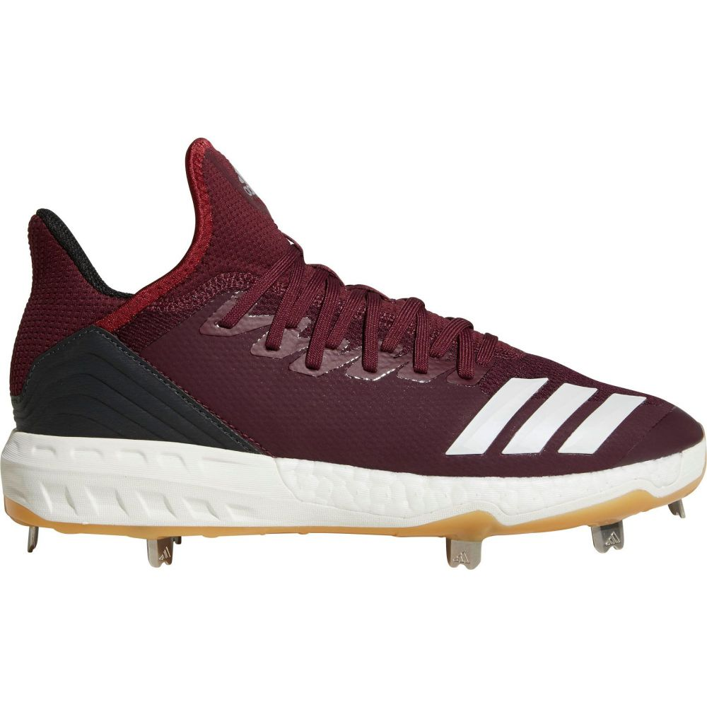 アディダス adidas メンズ 野球 スパイク シューズ・靴【Icon 4 Gum Metal Baseball Cleats】Maroon/White