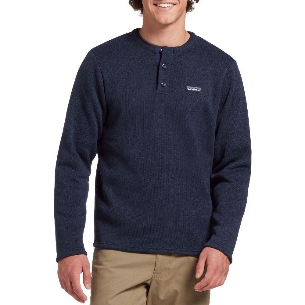 パタゴニア Patagonia メンズ フリース ヘンリーシャツ トップス【Better Sweater Henley Pullover】New Navy