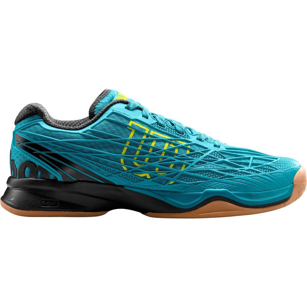 ウィルソン メンズ テニス シューズ・靴 【サイズ交換無料】 ウィルソン Wilson メンズ テニス シューズ・靴【Kaos Indoor Tennis Shoes】Black/Blue