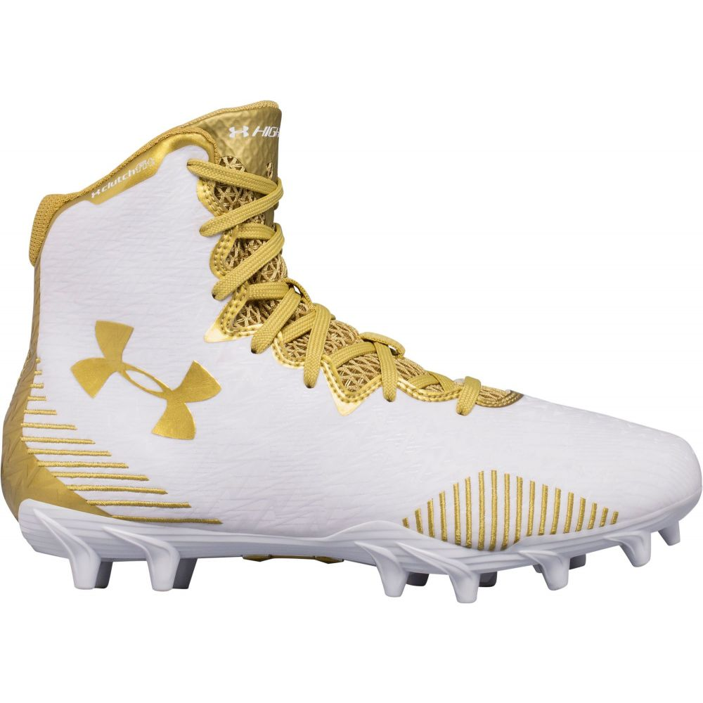 アンダーアーマー Under Armour レディース ラクロス スパイク シューズ・靴【Highlight MC Lacrosse Cleats】White/Gold