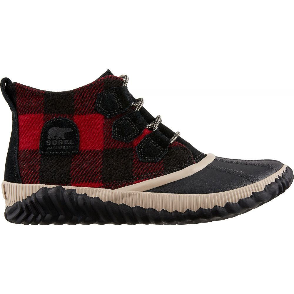ソレル SOREL レディース ブーツ ウインターブーツ シューズ・靴【Out N About Plus Plaid Winter Boots】Black