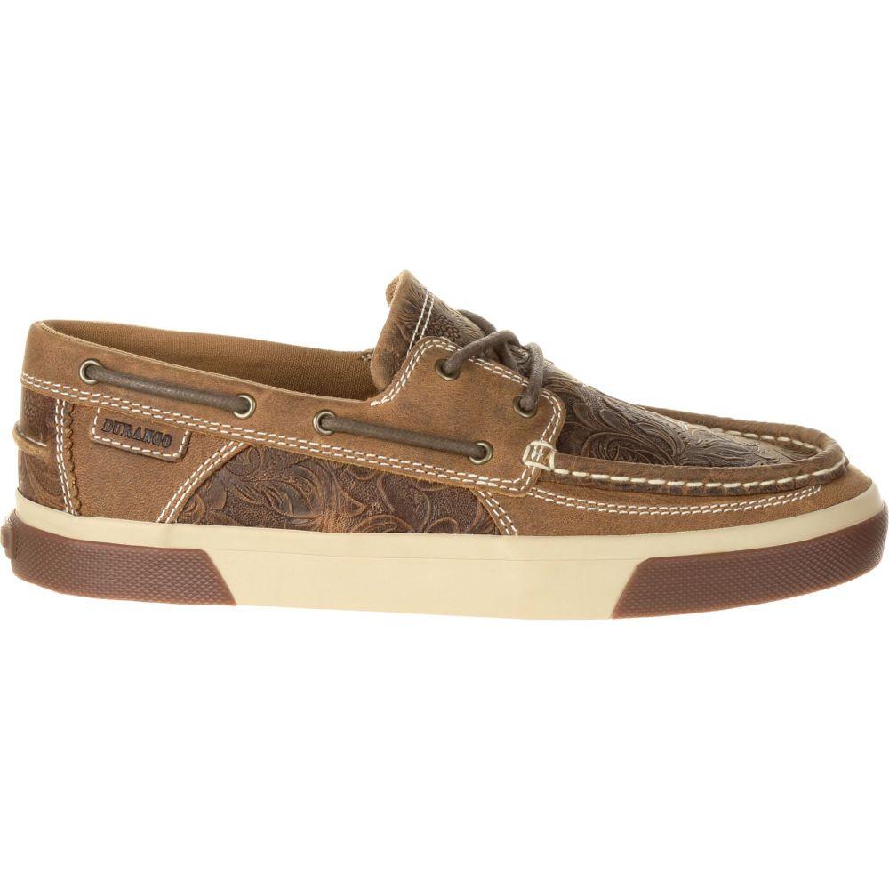 デュランゴ Durango レディース スリッポン・フラット シューズ・靴【Music City Western Embossed Boat Shoes】Sandstone