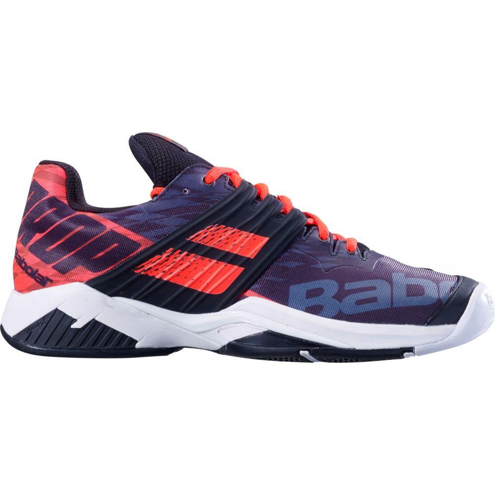 バボラ メンズ テニス シューズ・靴 【サイズ交換無料】 バボラ Babolat メンズ テニス シューズ・靴【Propulse Fury Tennis Shoes】Black/Red