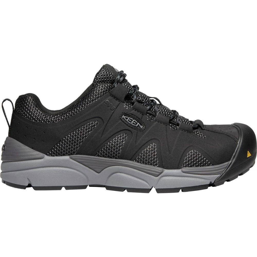 キーン Keen メンズ シューズ・靴 【KEEN San Antonio Low Aluminum Toe Work Shoes】Black/Steel Grey