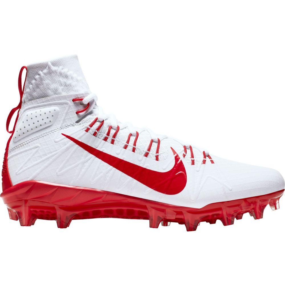 ナイキ Nike メンズ ラクロス スパイク シューズ・靴【Alpha Huarache 7 Elite Mid Lacrosse Cleats】White/Red