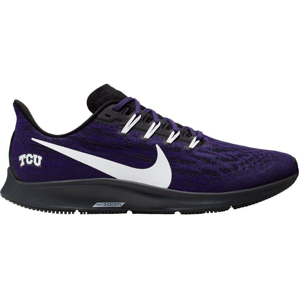 ナイキ Nike メンズ ランニング・ウォーキング エアズーム シューズ・靴【TCU Air Zoom Pegasus 36 Running Shoes】紫の/黒/白い