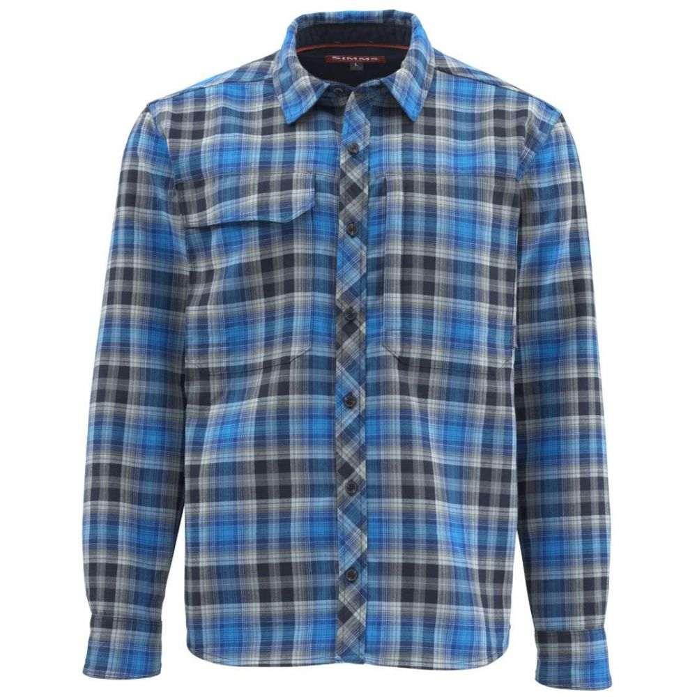 シムズ Simms メンズ シャツ フランネルシャツ トップス【Guide Flannel Long Sleeve Shirt (Regular and Big & Tall)】Admiral Blue Plaid