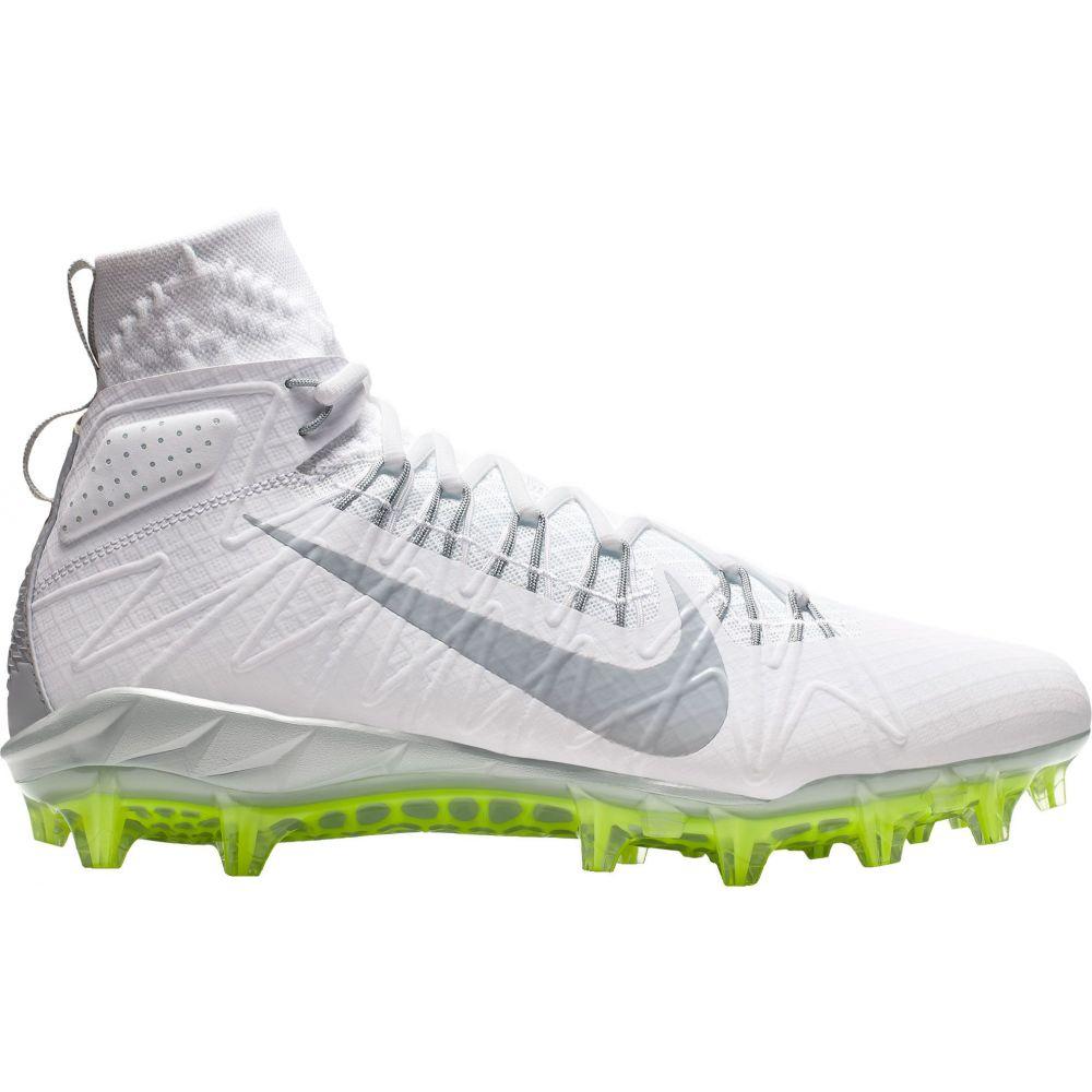 ナイキ Nike メンズ ラクロス スパイク シューズ・靴【Alpha Huarache 7 Elite Mid Lacrosse Cleats】White/Grey