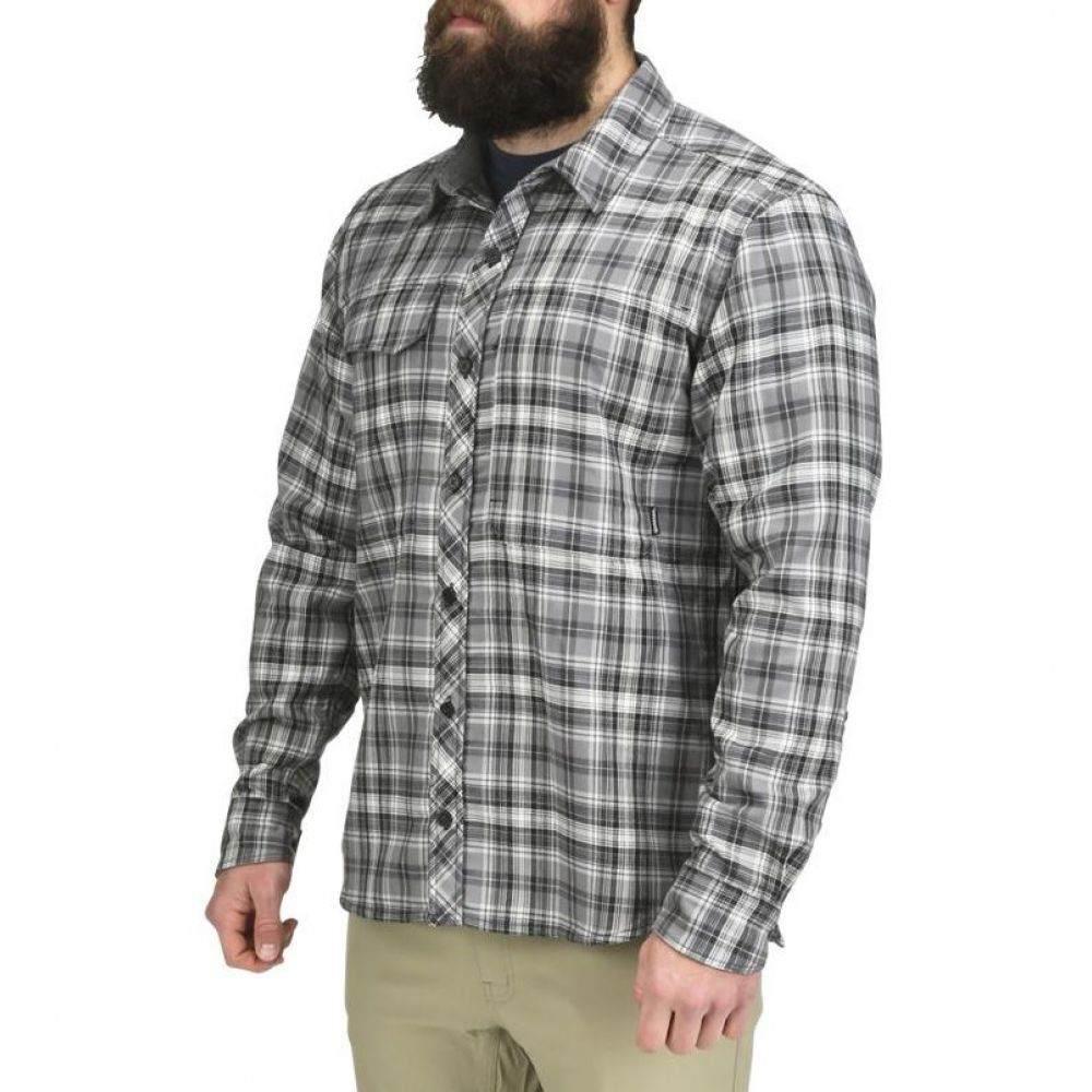 シムズ Simms メンズ シャツ フランネルシャツ トップス【Guide Flannel Long Sleeve Shirt (Regular and Big & Tall)】Steel Plaid