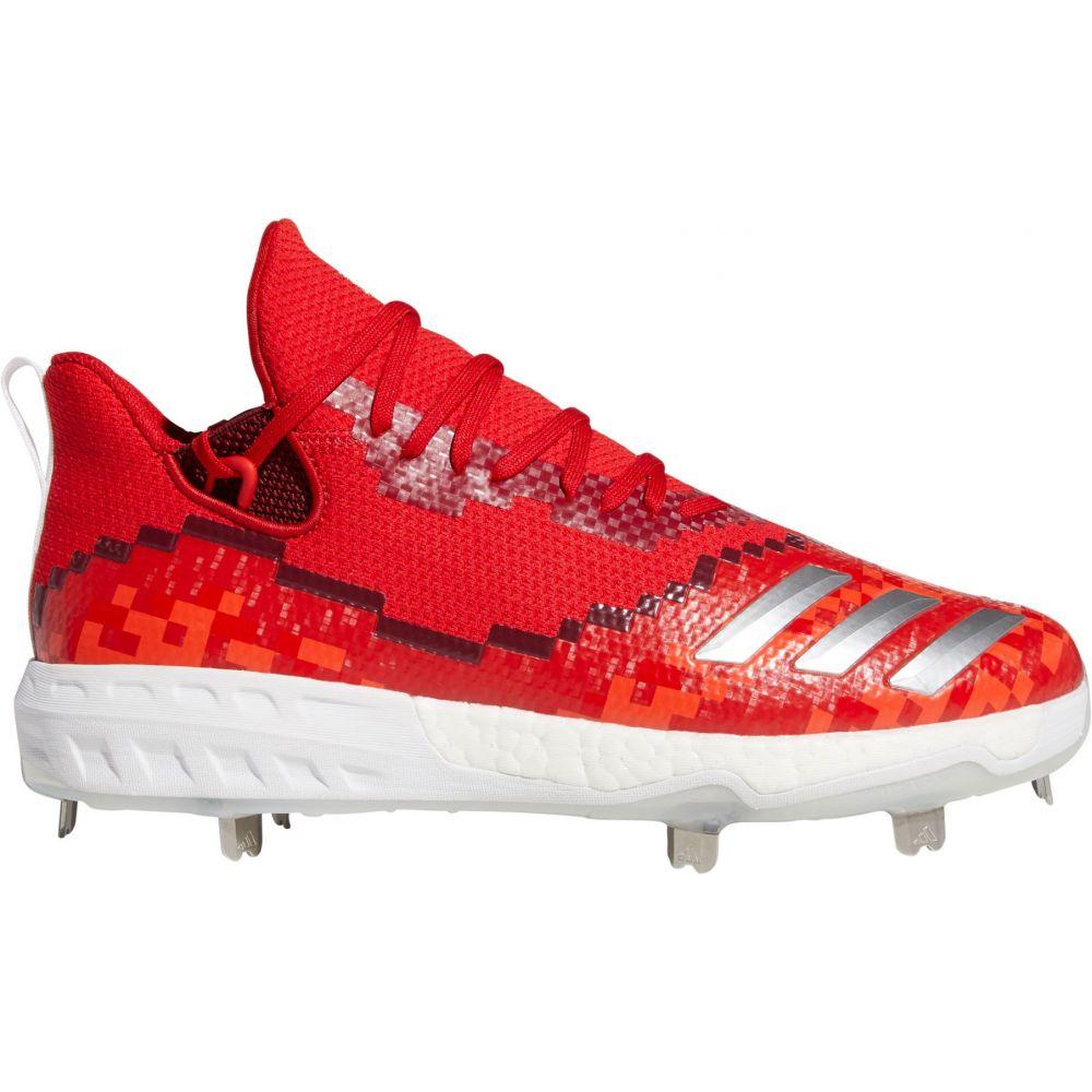 アディダス adidas メンズ 野球 スパイク シューズ・靴【Icon V 8-Bit Metal Baseball Cleats】Red/White