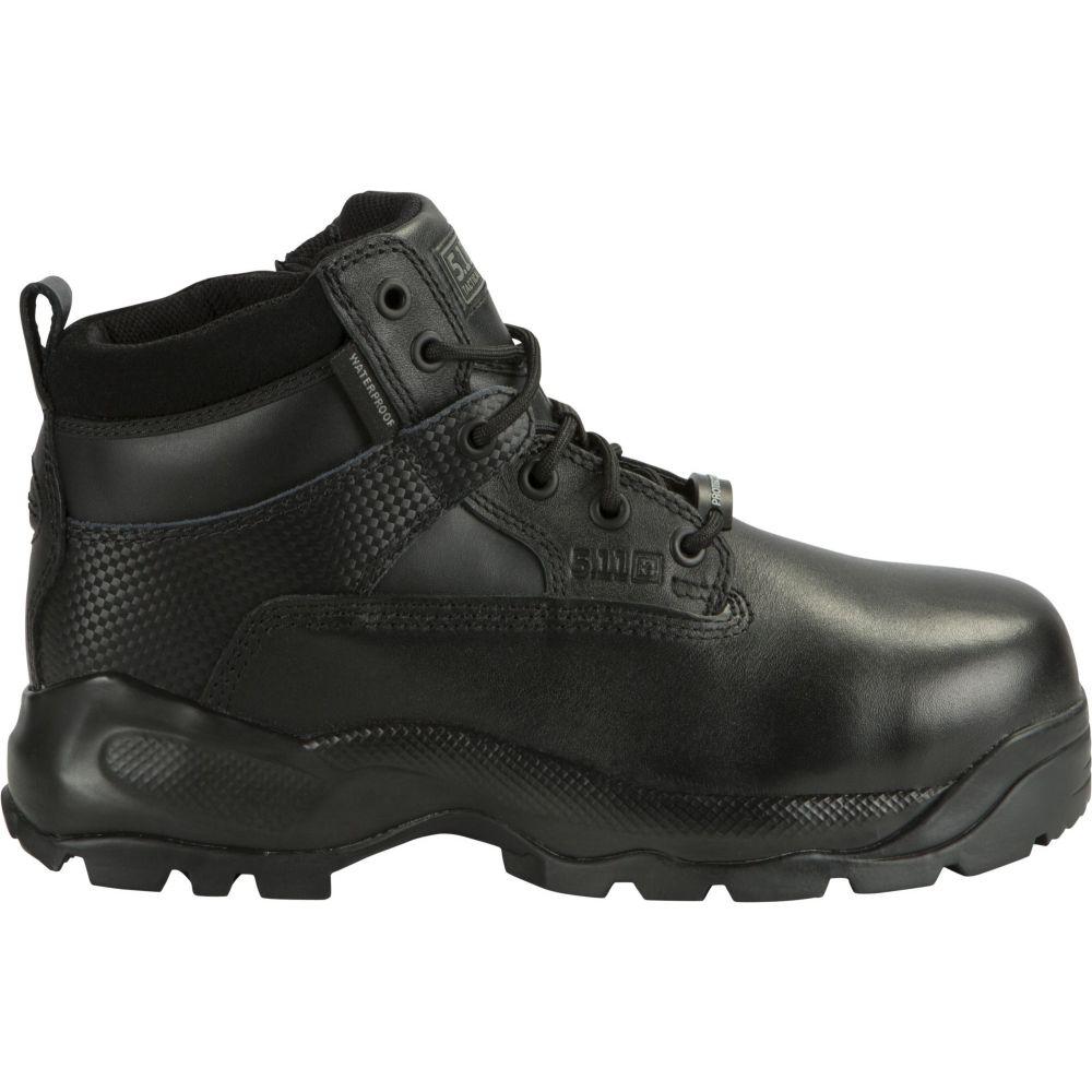 5.11 タクティカル 5.11 Tactical メンズ ブーツ シューズ・靴【A.T.A.C. Shield 6'' Side Zip Waterproof Tactical Boots】Black